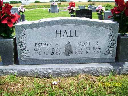 VAUGHN HALL, ESTHER V. - Benton County, Arkansas | ESTHER V. VAUGHN HALL - Arkansas Gravestone Photos