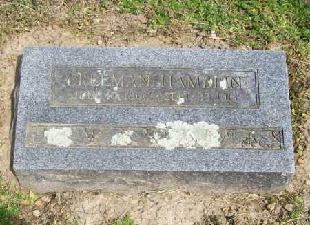 HAMBLIN, FREEMAN - Benton County, Arkansas | FREEMAN HAMBLIN - Arkansas Gravestone Photos