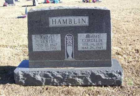 HAMBLIN, LEWIS - Benton County, Arkansas | LEWIS HAMBLIN - Arkansas Gravestone Photos