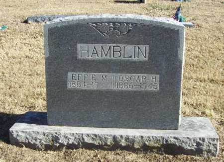 HAMBLIN, OSCAR H - Benton County, Arkansas | OSCAR H HAMBLIN - Arkansas Gravestone Photos