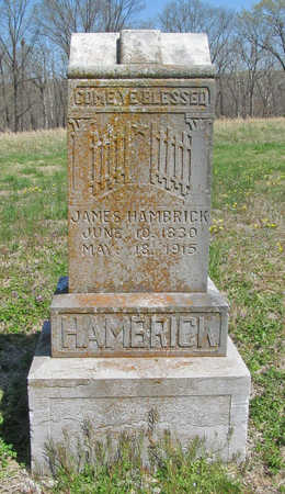 HAMBRICK, JAMES - Benton County, Arkansas | JAMES HAMBRICK - Arkansas Gravestone Photos