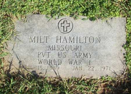 HAMILTON (VETERAN WWI), MILT - Benton County, Arkansas | MILT HAMILTON (VETERAN WWI) - Arkansas Gravestone Photos