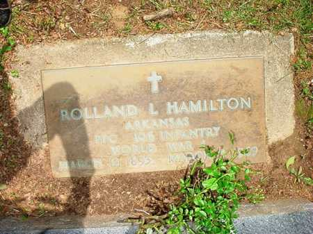 HAMILTON (VETERAN WWI), ROLLAND L. - Benton County, Arkansas | ROLLAND L. HAMILTON (VETERAN WWI) - Arkansas Gravestone Photos