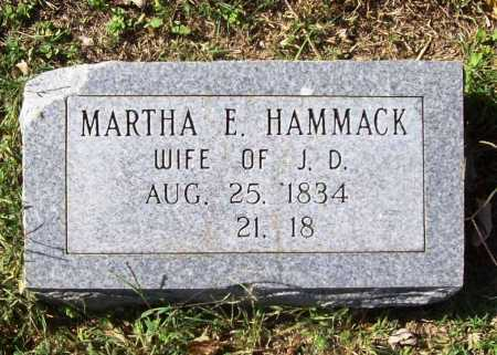 HAMMACK, MARTHA ELIZABETH - Benton County, Arkansas | MARTHA ELIZABETH HAMMACK - Arkansas Gravestone Photos