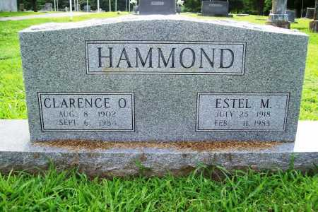 HAMMOND, CLARENCE O. - Benton County, Arkansas | CLARENCE O. HAMMOND - Arkansas Gravestone Photos