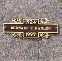 HANLON, BERNARD F. - Benton County, Arkansas | BERNARD F. HANLON - Arkansas Gravestone Photos