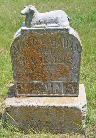 HANNA, MRS. G. C. - Benton County, Arkansas | MRS. G. C. HANNA - Arkansas Gravestone Photos
