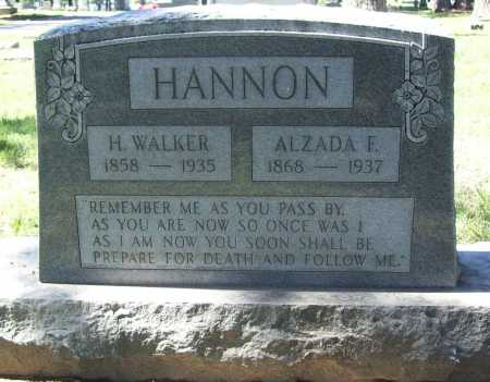 HANNON, HENRY WALKER - Benton County, Arkansas | HENRY WALKER HANNON - Arkansas Gravestone Photos