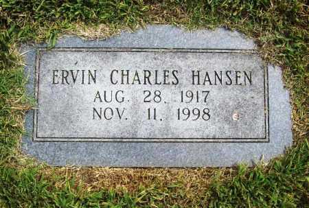 HANSEN, ERVIN CHARLES - Benton County, Arkansas | ERVIN CHARLES HANSEN - Arkansas Gravestone Photos