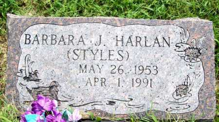 STYLES HARLAN, BARBARA J. - Benton County, Arkansas | BARBARA J. STYLES HARLAN - Arkansas Gravestone Photos