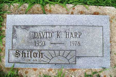 HARP, DAVID K. - Benton County, Arkansas | DAVID K. HARP - Arkansas Gravestone Photos