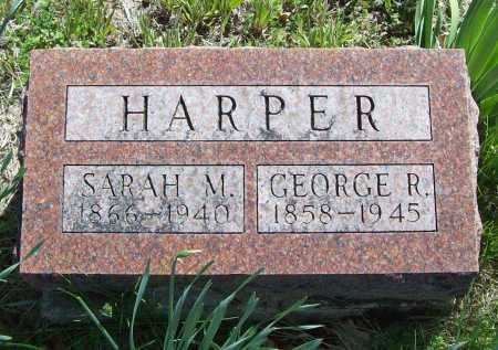 HARPER, GEORGE R. - Benton County, Arkansas | GEORGE R. HARPER - Arkansas Gravestone Photos