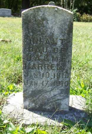 HARRELL, INFANT DAUGHTER - Benton County, Arkansas | INFANT DAUGHTER HARRELL - Arkansas Gravestone Photos