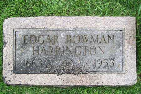 HARRINGTON, EDGAR BOWMAN - Benton County, Arkansas | EDGAR BOWMAN HARRINGTON - Arkansas Gravestone Photos
