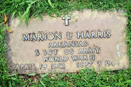 HARRIS (VETERAN WWII), MARION L. - Benton County, Arkansas | MARION L. HARRIS (VETERAN WWII) - Arkansas Gravestone Photos