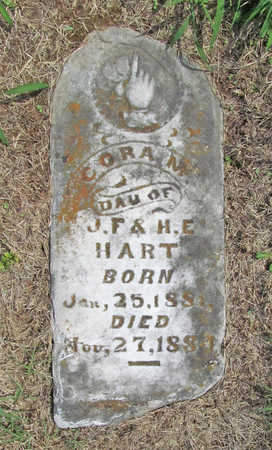 HART, CORA M - Benton County, Arkansas | CORA M HART - Arkansas Gravestone Photos