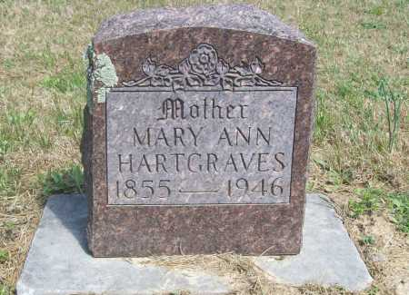 HARTGRAVES, MARY ANN - Benton County, Arkansas | MARY ANN HARTGRAVES - Arkansas Gravestone Photos