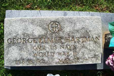 HARTMAN (VETERAN WWII), GEORGE ELMER - Benton County, Arkansas | GEORGE ELMER HARTMAN (VETERAN WWII) - Arkansas Gravestone Photos