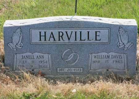 HARVILLE, JANELL ANN - Benton County, Arkansas | JANELL ANN HARVILLE - Arkansas Gravestone Photos