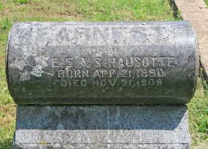 HAUSOTTE, EARNEST - Benton County, Arkansas | EARNEST HAUSOTTE - Arkansas Gravestone Photos