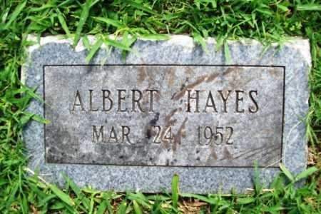 HAYES, ALBERT - Benton County, Arkansas | ALBERT HAYES - Arkansas Gravestone Photos