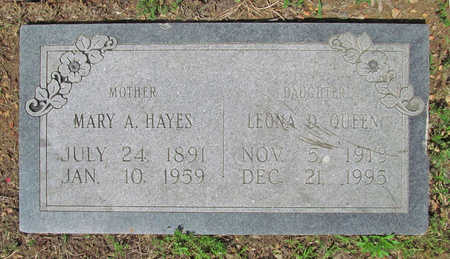 HAYES, MARY A - Benton County, Arkansas | MARY A HAYES - Arkansas Gravestone Photos