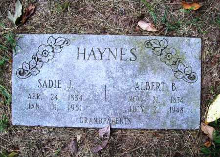 HAYNES, ALBERT B. - Benton County, Arkansas | ALBERT B. HAYNES - Arkansas Gravestone Photos