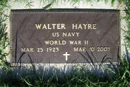 HAYRE (VETERAN WWII), WALTER - Benton County, Arkansas | WALTER HAYRE (VETERAN WWII) - Arkansas Gravestone Photos