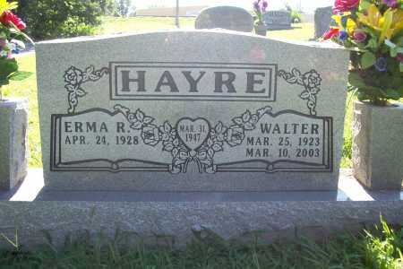 HAYRE, WALTER - Benton County, Arkansas | WALTER HAYRE - Arkansas Gravestone Photos