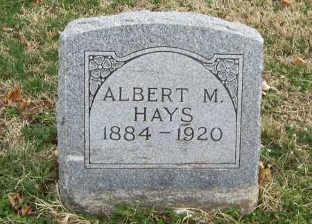 HAYS, ALBERT M. - Benton County, Arkansas | ALBERT M. HAYS - Arkansas Gravestone Photos
