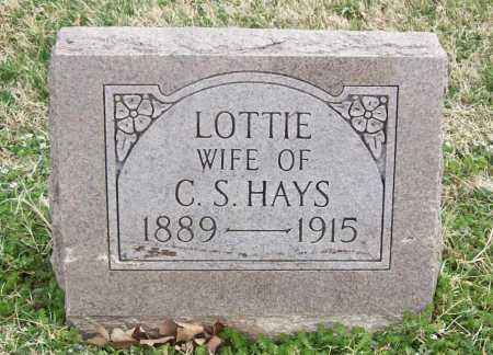 FEATHERSTON HAYS, LOTTIE - Benton County, Arkansas | LOTTIE FEATHERSTON HAYS - Arkansas Gravestone Photos