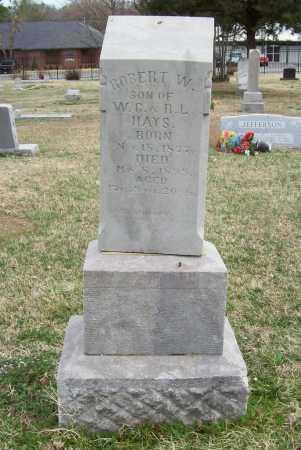 HAYS, ROBERT W. - Benton County, Arkansas | ROBERT W. HAYS - Arkansas Gravestone Photos