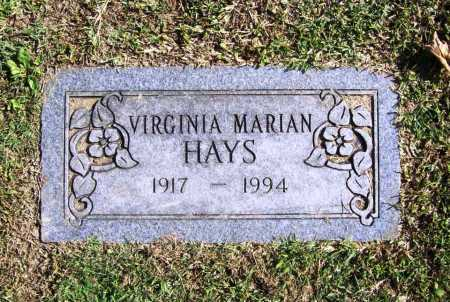 HAYS, VIRGINIA MARIAN - Benton County, Arkansas | VIRGINIA MARIAN HAYS - Arkansas Gravestone Photos