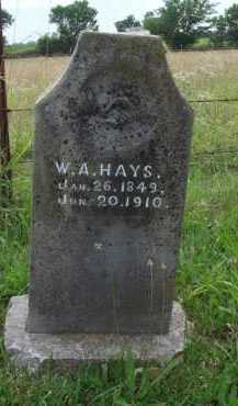 "HAYS, W. A. ""AL"" - Benton County, Arkansas 