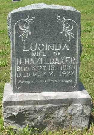 HAZELBAKER, LUCINDA - Benton County, Arkansas | LUCINDA HAZELBAKER - Arkansas Gravestone Photos