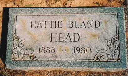 BLAND HEAD, HATTIE - Benton County, Arkansas | HATTIE BLAND HEAD - Arkansas Gravestone Photos