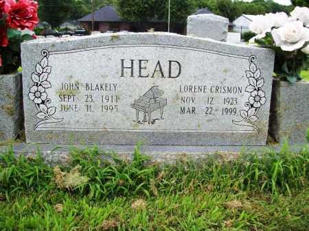 CRISMON HEAD, LORENE - Benton County, Arkansas | LORENE CRISMON HEAD - Arkansas Gravestone Photos