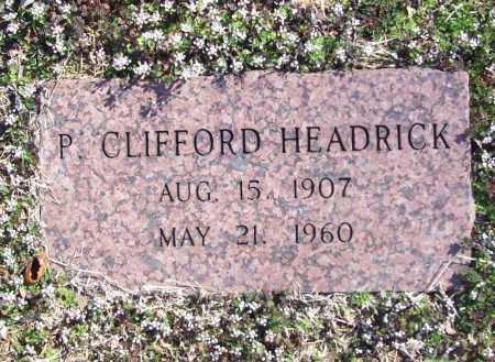 HEADRICK, P. CLIFFORD - Benton County, Arkansas | P. CLIFFORD HEADRICK - Arkansas Gravestone Photos
