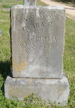 FRY HECKMAN, CLARA R - Benton County, Arkansas | CLARA R FRY HECKMAN - Arkansas Gravestone Photos