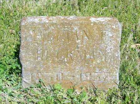 HECKMAN, LILLIAN ELLA (ORIG) - Benton County, Arkansas | LILLIAN ELLA (ORIG) HECKMAN - Arkansas Gravestone Photos