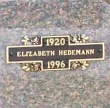 HEDEMANN, ELIZABETH - Benton County, Arkansas | ELIZABETH HEDEMANN - Arkansas Gravestone Photos