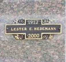 HEDEMANN, LESTER E. - Benton County, Arkansas | LESTER E. HEDEMANN - Arkansas Gravestone Photos