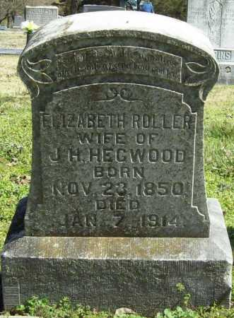 HEGWOOD, ELIZABETH - Benton County, Arkansas | ELIZABETH HEGWOOD - Arkansas Gravestone Photos