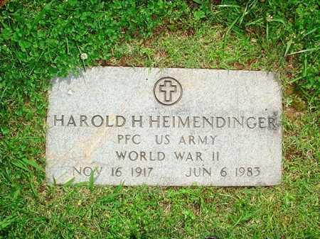 HEIMENDINGER (VETERAN WWII), HAROLD H. - Benton County, Arkansas | HAROLD H. HEIMENDINGER (VETERAN WWII) - Arkansas Gravestone Photos