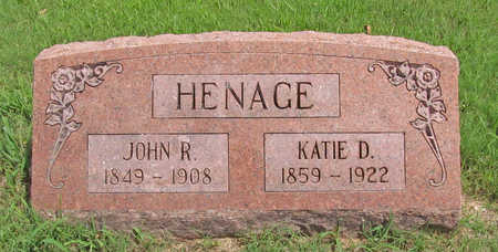 HENAGE, JOHN R - Benton County, Arkansas | JOHN R HENAGE - Arkansas Gravestone Photos