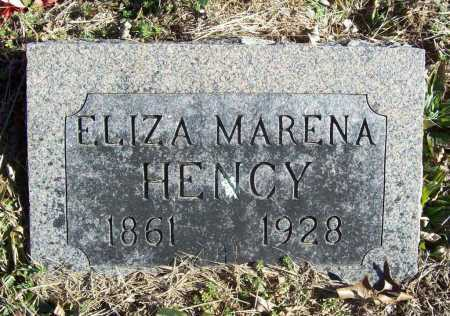 HENCY, ELIZA MARENA - Benton County, Arkansas | ELIZA MARENA HENCY - Arkansas Gravestone Photos