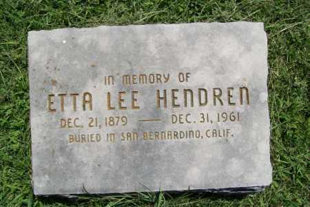 HENDREN (MEMORIAL), ETTA LEE - Benton County, Arkansas | ETTA LEE HENDREN (MEMORIAL) - Arkansas Gravestone Photos