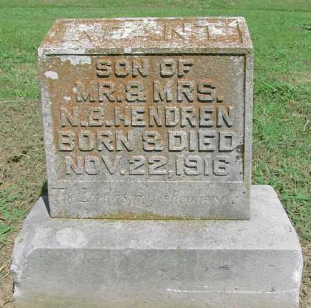 HENDREN, INFANT SON - Benton County, Arkansas | INFANT SON HENDREN - Arkansas Gravestone Photos