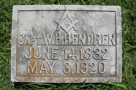 HENDREN (VETERAN CSA), WILLIAM HICKS - Benton County, Arkansas | WILLIAM HICKS HENDREN (VETERAN CSA) - Arkansas Gravestone Photos