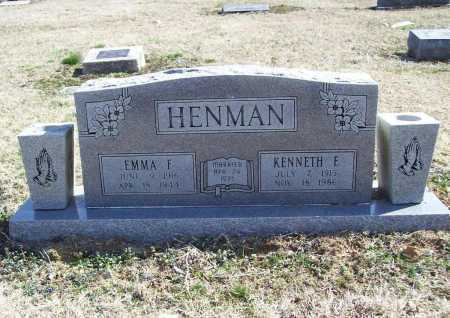 HENMAN, KENNETH E. - Benton County, Arkansas | KENNETH E. HENMAN - Arkansas Gravestone Photos